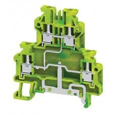 Арт. ODLG2.5A(I.S) Клемма заземления на DIN-рейку с винтовыми зажимами для проводника до 2.5 мм.кв.