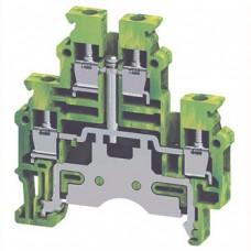 Арт. CDLG4(I.S) Клемма заземления на DIN-рейку с винтовыми зажимами для проводника до 4 мм.кв.