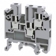 Арт. CMC1-2 Клемма проходная 1+2, несколько подключений, с винтовыми зажимами проводника до 4 мм.кв., 32 A/630 V