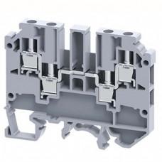 Арт. CMC2-2 Клемма проходная 2+2, несколько подключений, с винтовыми зажимами проводника до 4 мм.кв., 32 A/630 V