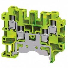 Арт. CMCG4 Клемма винтовая на 4 соединения CMCG4/4mm2/0.2-4mm2/ заземляющая