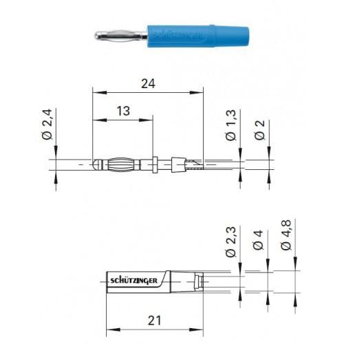 Арт. FK 04 L Ni Штекер банан, изолированный, диаметром 2.4 мм. Напряжение 33 VAC/70 VDC 12 А. Пайка проводника сечением до 0.5 мм.кв. Контактные части никелированные.
