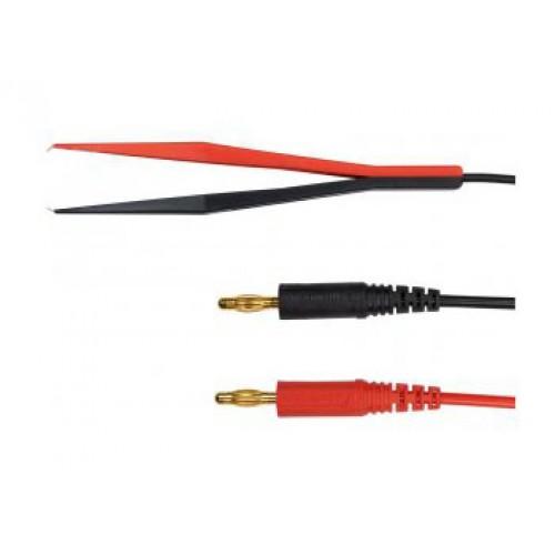 Арт. KML 7488 Измерительный комплект KML 7488 / PZ/0.75/100/1A/70V/Au c пинцетом (захват до 17mm) и двумя штекерами диаметром 4 mm на коаксиальном кабеле