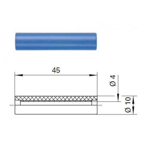 Арт. KU 320 Муфта KU 320 соединительная гнезда диаметром 4 мм 33VAC / 70VDC 16A, контактная часть латунь, корпус полистирол.