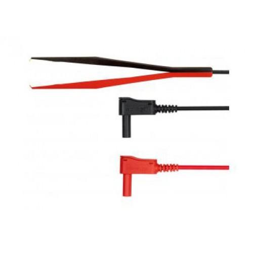 Арт. KWML 8452 Измерительный комплект KWML 8452 /PZ/0.75/100 c пинцетом (захват до 17mm), угловые изолированные штекеры диаметром 4 mm