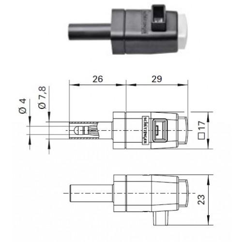 Арт. SDK 799 Стационарная нажимная пружинная клемма быстрого подключения (quick-release terminals) Напряжение 300 V CAT II 16A размер рабочего монтажного окна 8х4 мм, контактная часть никелированная, корпус полиамид