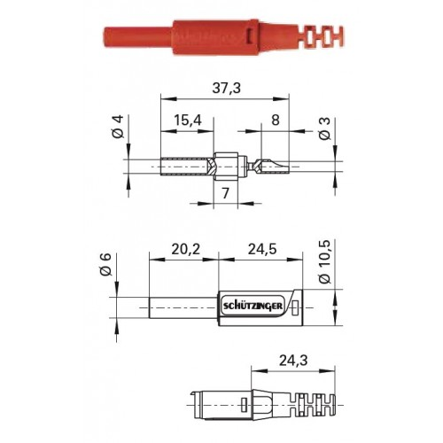 Арт. SKU 30 C Ni / OK Гнездо изолированное на провод, под штекер диаметром 4 мм. Напряжение 1000 V CAT II 32A. Обжимка проводника сечением до 0.5 мм.кв., контактная часть никилированная