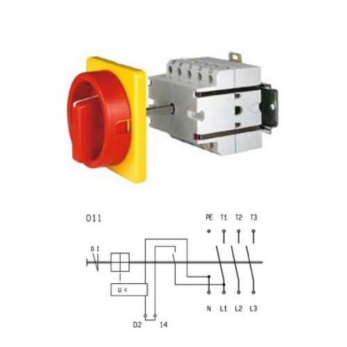 Арт. 134377 Выключатели S1 25A/400V, напряжение катушки 230V/50Hz IP54