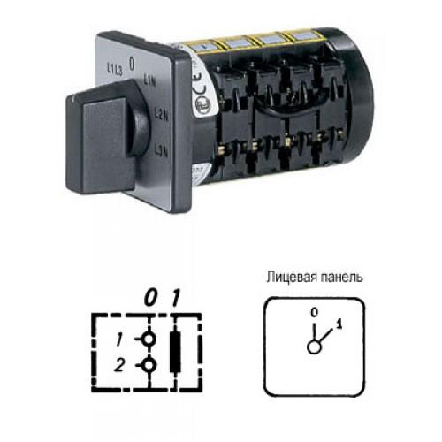 Арт. 137000 Кулачковый выключатель однополюсный 5.5kW/400V~ AC-3 IP65. Код заказа B2N A1-F15-B-SI