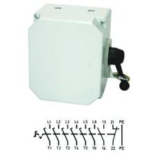 Арт. 137661 Выключатель нагрузки поворотный 6-ти пол. в алюминиевом корпусе 25A/400V IP65. С боковым креплением ручки выключателя. Код заказа V3LA6GK/3S