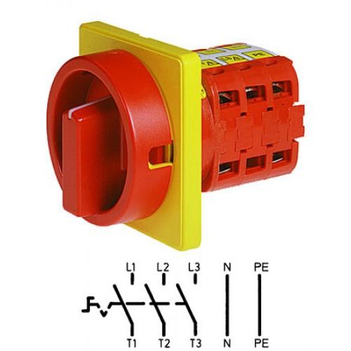Арт. 141839 Выключатель нагрузки трехполюсный с N- и PE-клеммами V2N 01/HS-F3-D-RG 25A/690V IP54