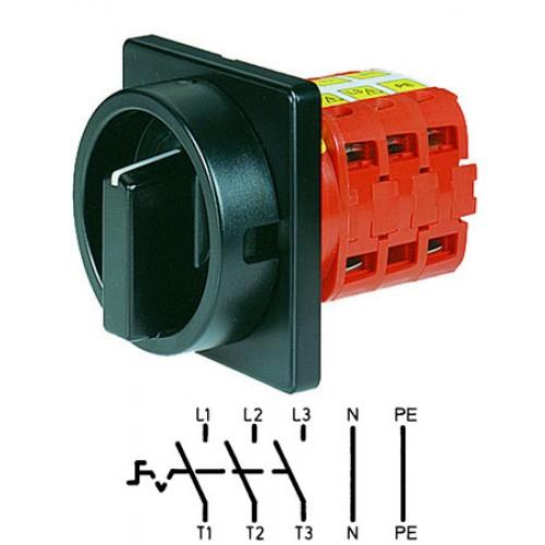 Арт. 141847 Выключатель нагрузки трехполюсный с N- и PE-клеммами V2N 01/HS-F3-D-SS 25A/690V IP54