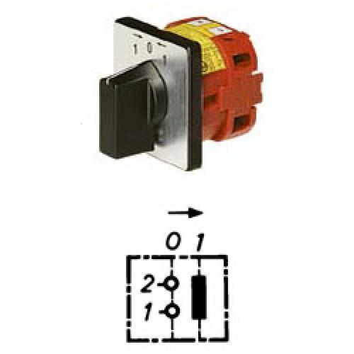 Арт. 141932 Управляющий кулачковый выключатель (1-полюсной для размыкающего контактора) , 25A/690V IP54, код заказа V2N KEDR0-F1-B-SI