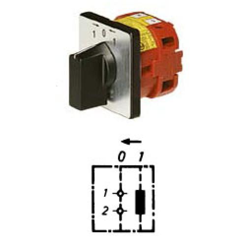 Арт. 141935 Управляющий кулачковый выключатель (1-полюсной для замыкающего контактора), 25A/690V IP54, код заказа V2N KEDRI-F1-B-SI