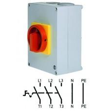 Арт. 143083 Выключатель нагрузки поворотный 3-х полюсный в пластиковом корпусе 25A/690V IP65. Код заказа V2N 01/HS-T24/2-D-MR