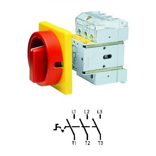 Арт. 34990503 Выключатель нагрузки поворотный, трехполюсный DK4 00/HS-NF45-D-RG 80A/690V IP65