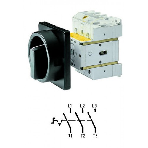 Арт. 34990527 Выключатель нагрузки поворотный, трехполюсный DK4 00/HS-NF45-D-SS 80A/690V IP65