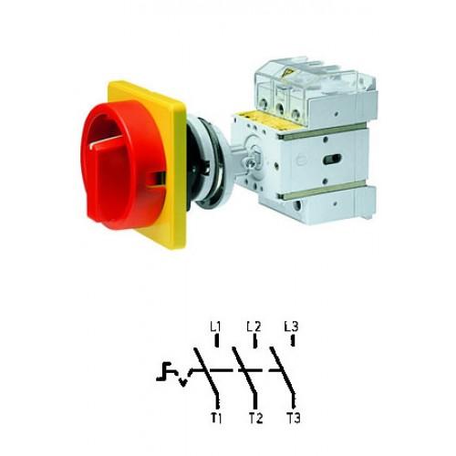 Арт. 303303 Выключатель нагрузки поворотный, трехполюсный DK1 00/HS-NOF35-D-RG 25A/690V IP65