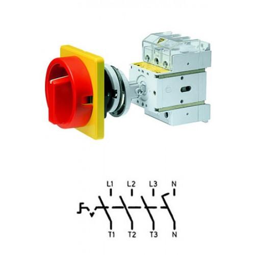 Арт. 32048220 Выключатель нагрузки поворотный, четырехполюсный D2 04/HS-NOF35-D-RG 40A/690V IP65