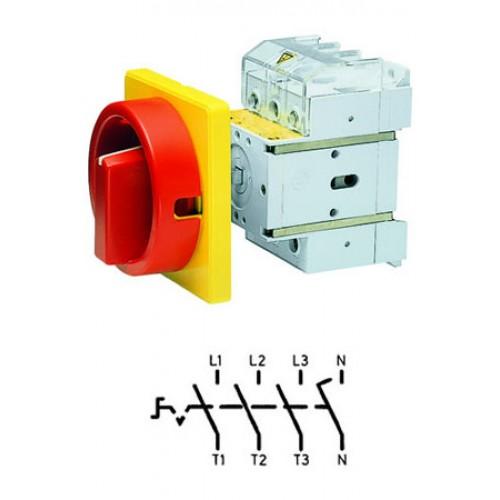 Арт. 33041220 Выключатель нагрузки поворотный, четырехполюсный D3 04/HS-NF35-D-RG 63A/690V IP65