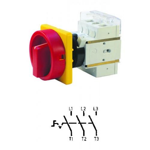 Арт. 303309 Выключатель нагрузки поворотный, трехполюсный DK1 00/HS-KZF25-D-RG 25A/690V IP65