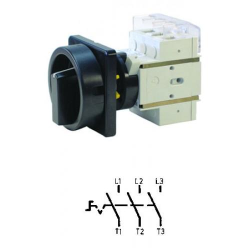 Арт. 303310 Выключатель нагрузки поворотный, трехполюсный DK1 00/HS-KZF25-D-SS 25A/690V IP65