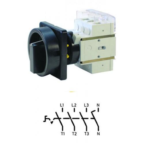 Арт. 303312 Выключатель нагрузки поворотный, четырехполюсный DK1 04/HS-KZF25-D-SS 25A/690V IP65