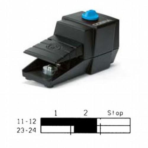 Арт. 305111 Управляющий выключатель с 1 импульсным и 1 удерживающим контактом – ключевая коммутация, с аварийной остановкой, 6A/230V~ AC-15 IP65, код заказа FDC K1R-G