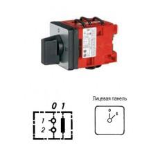 Арт. 31990100 Кулачковый выключатель однополюсный 25A/690V IP65. Код заказа D1 A1-F15-B-SI