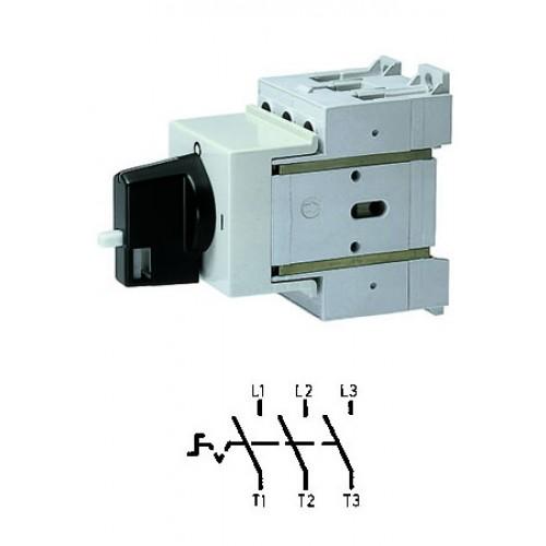 Арт. 32990068 Выключатель нагрузки модульный поворотный, трехполюсный D2 00/HS-V-BS-SM 40A/690V