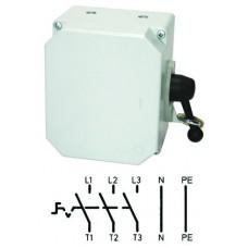 Арт. 46456 Выключатель нагрузки поворотный 3-х пол. в алюминиевом корпусе 25A/690V IP65. С боковым креплением ручки выключателя. Код заказа TAGK 16/3S