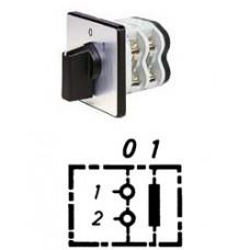 Арт. 141751 Однополюсный кулачковый выключатель, контактных отсеков - 1, 25A/400V IP54, код заказа V2N A1-F1-B-SI