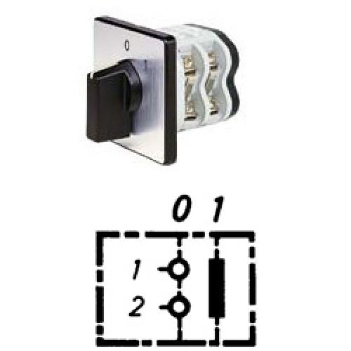 Арт. 141751 Однополюсный кулачковый выключатель, контактных отсеков - 1, 25A/690V IP54, код заказа V2N A1-F1-B-SI