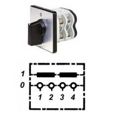 Арт. 141754 Двухполюсный кулачковый выключатель, контактных отсеков - 1, 25A/690V IP54, код заказа V2N A2-F1-B-SI
