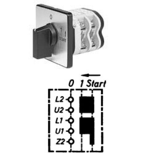 Арт. 141763 Однофазный пусковой кулачковый выключатель., контактных отсеков - 2, 25A/690V IP54, код заказа V2N E-F1-B-SI