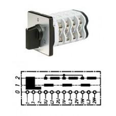 Арт. 141799 Кулачковый переключатель полярности для 2-х скоростей вращения с J-контактом. Тип PIJ., контактных отсеков - 5, 25A/400V IP54, код заказа V2N PIJ-F1-B-SI