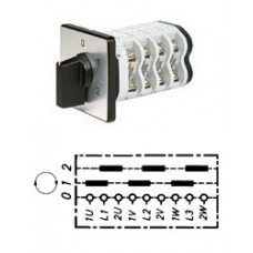 Арт. 146500 Круговой кулачковый переключатель полярности для 2-х скоростей вращения. Тип PPU., контактных отсеков - 4, 32A/690V IP54, код заказа V3N PPU-F3-B-SI