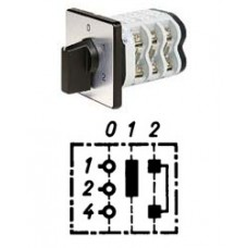 """Арт. 146361 Однополюсный двухступенчатый кулачковый выключатель с положением """"0"""". Тип S02, контактных отсеков - 1, 32A/690V IP54, код заказа V3N S02-F3-B-SI"""