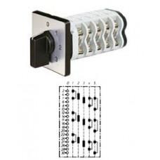 """Арт. 142157 Трехполюсный пятиступенчатый кулачковый выключатель с положением """"0"""". Тип S305, контактных отсеков - 8, 25A/400V IP54, код заказа V2N S305-F1-B-SI"""
