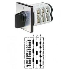 """Арт. 146397 Трехполюсный трехступенчатый кулачковый выключатель без положения """"0"""". Тип S33, контактных отсеков - 5, 32A/690V IP54, код заказа V3N S33-F3-B-SI"""