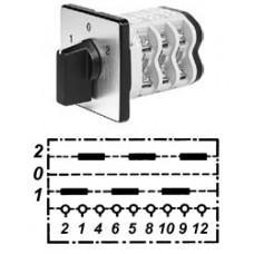 """Арт. 146342 Трехполюсные кулачковые переключатели с положением """"0"""". Тип U., контактных отсеков - 3, 32A/690V IP54, код заказа V3N U-F3-B-SI"""