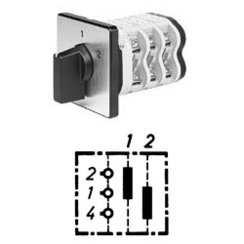 Арт. 141826 Однополюсные кулачковые переключатели. Тип UD1., контактных отсеков - 1, 25A/690V IP54, код заказа V2N UD1-F1-B-SI