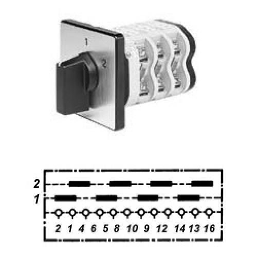 Арт. 146339 Четырехполюсные кулачковые переключатели. Тип UD4., контактных отсеков - 4, 32A/690V IP54, код заказа V3N UD4-F3-B-SI