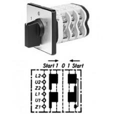 Арт. 146267 Однофазный пусковой реверсивный кулачковый выключатель, контактных отсеков - 3, 32A/690V IP54, код заказа V3N WE-F3-B-SI