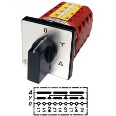 Арт. 141784 Кулачковый переключатель звезда - треугольник. Тип Y., контактных отсеков - 4, 25A/690V IP54, код заказа V2N Y-F1-B-SI