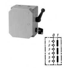 Арт. 151244 Трехполюсный выключатель в металлическом корпусе с цилиндрическим замком, переключение ручкой, 32A/400V IP65, код заказа V3LAG/ZSE