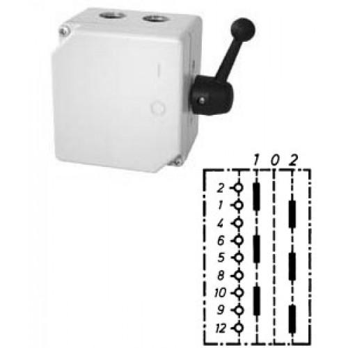 """Арт. 46463 Моторный переключатель для 2-х цепей трехполюсный с положением """"0"""", 25A/690V IP65, код заказа TUG 16"""