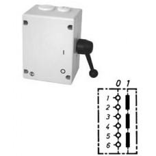 Арт. 46498 Моторный выключатель трехполюсный, 45A/690V IP65, код заказа TAT 32