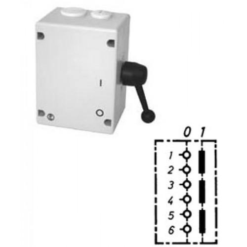 Арт. 46499 Моторный выключатель трехполюсный, 63A/690V IP65, код заказа TAT 50