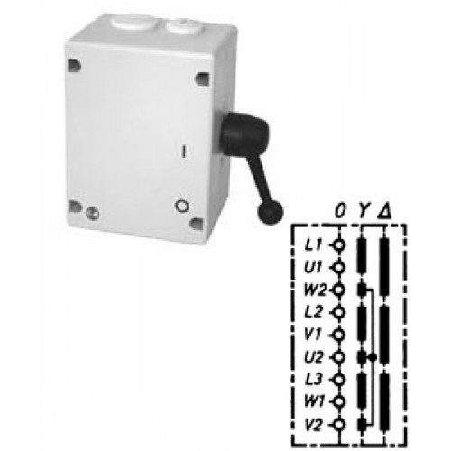 Арт. 46505 Моторный переключатель звезда - треугольник, 25A/690V IP65, код заказа TYT 16